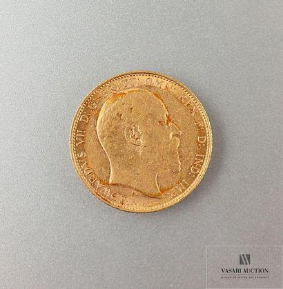 Une pièce or Edouard VII 1904 Poids : 7,98...