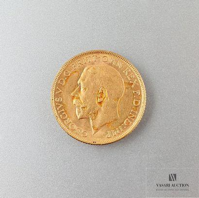 Une pièce or Georges V 1918 Poids : 7,99...