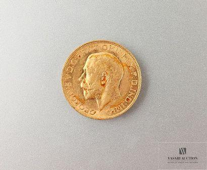 Une pièce or Georges V 1911 Poids : 7,98...