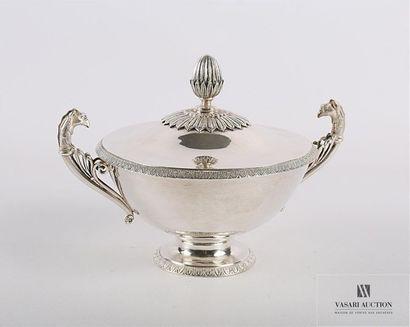 Bouillon en argent (1798-1809) de forme ronde...