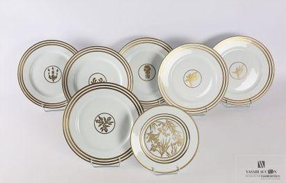 LIMOGES - Alberto Pinto Douze assiettes de table et dix sept assiettes à dessert...