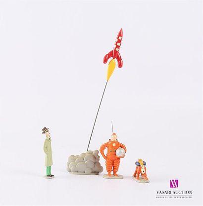 PIXI - HERGÉ / TINTIN Ref : 4591 Quatre figurines...