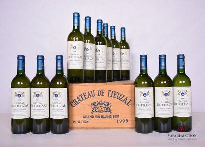 12 BllesCH. DE FIEUZAL Graves blanc1998...
