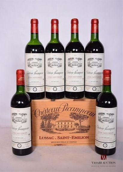 6 BllesCH. PICAMPEAULussac St Emilion1992...