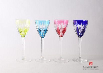 SAINT LOUIS Suite de dix verres à vin du...