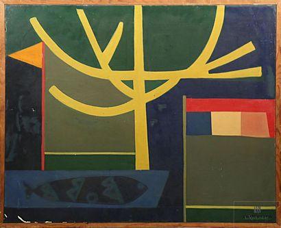 TEYSSANDIER Louis (1909-1987) Abstraction...