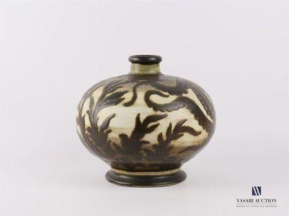 CATTEAU Charles (1880-1966) Vase à décor...