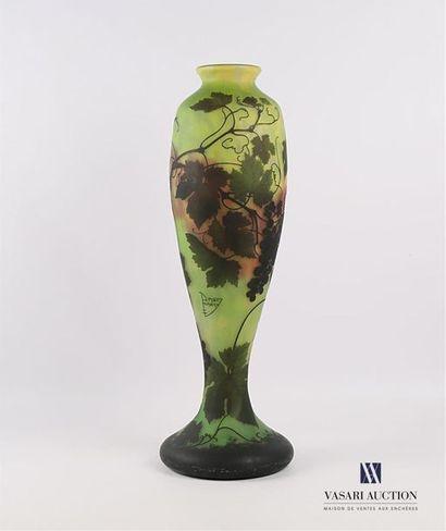 DAUM NANCY Important vase de forme oblongue...