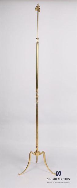 MAISON JANSEN Lampe de parquet en bronze...