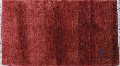 GABBEH Tapis en laine à fond rouge 150 x...