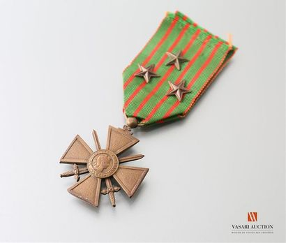 France: croix de guerre 1914-1915, ruban...
