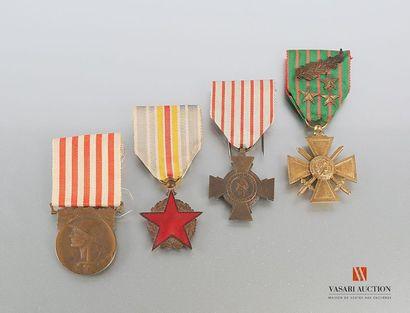 Ordres et décorations : - croix de guerre...