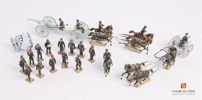 Soldats de plomb polychromes fabrique Française...