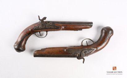 Paire de pistolets de demi-arçon, platine...