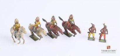 Soldats de plomb articulés polychromes fabrique...