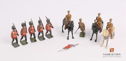 Soldats de plomb articulés polychromes fabrication...
