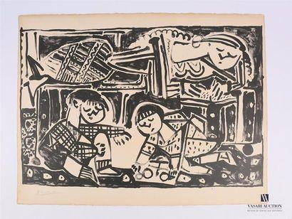 PICASSO Pablo (1881 - 1973) LA MERE ET LES...
