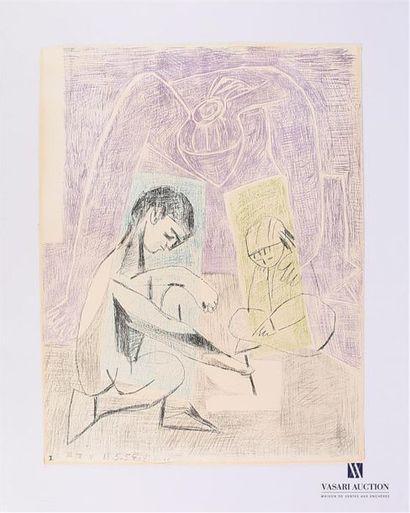 PICASSO Pablo (1881 - 1973) LE PETIT DESSINATEUR....