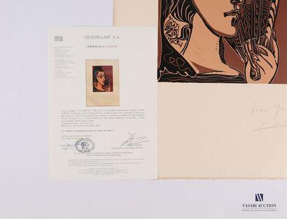 PICASSO Pablo (1881 - 1973) L'ESPAGNOLE ou PORTRAIT DE JACQUELINE EN CARMEN. Mougins,...