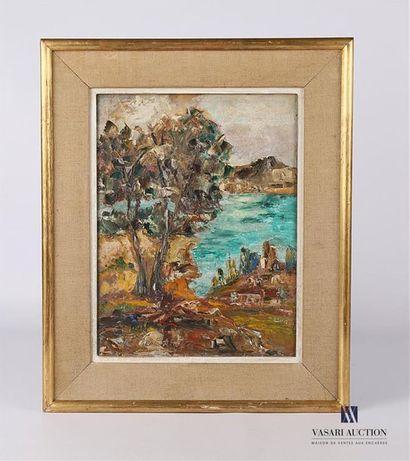 BAROLLI Mario (XXème siècle) Vue de paysage...