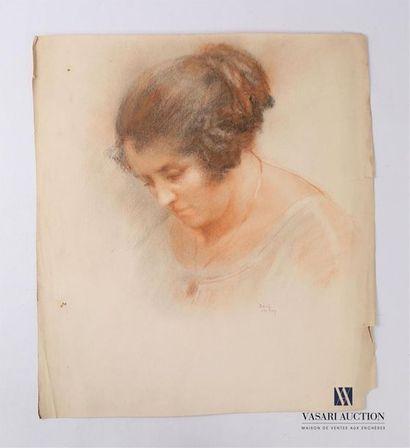 VAN ROY Dolf (1858-1943) Femme au chignon...