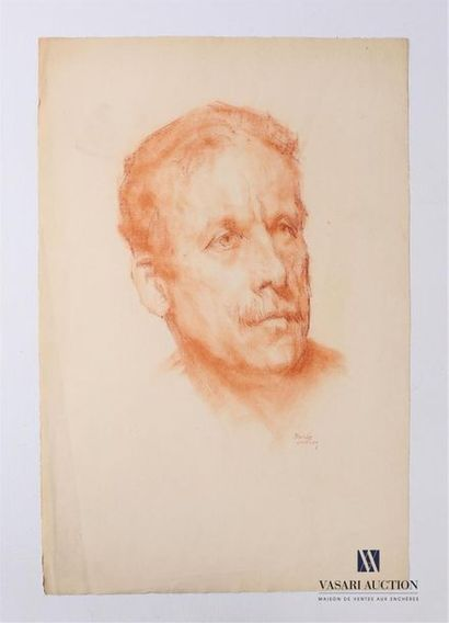 VAN ROY Dolf (1858-1943) Homme à la moustache...