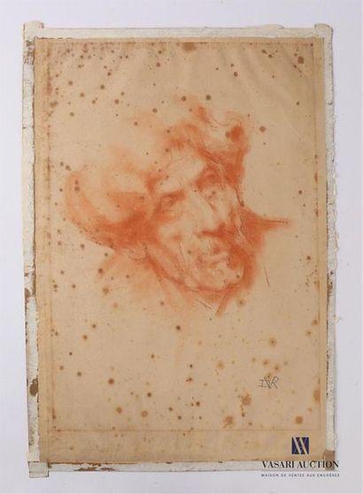 VAN ROY Dolf (1858-1943) Vieillard à la moustache,...