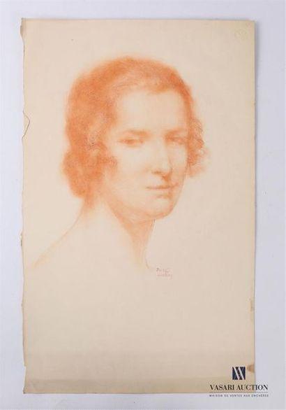 VAN ROY Dolf (1858-1943) Portrait de femme...