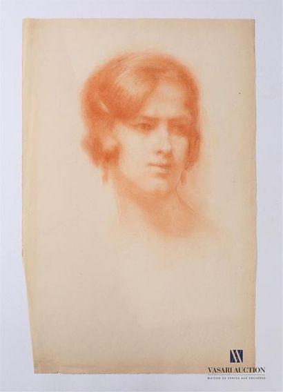 VAN ROY Dolf (1858-1943) Profil de femme...