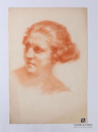 VAN ROY Dolf (1858-1943) Portrait de vieille...