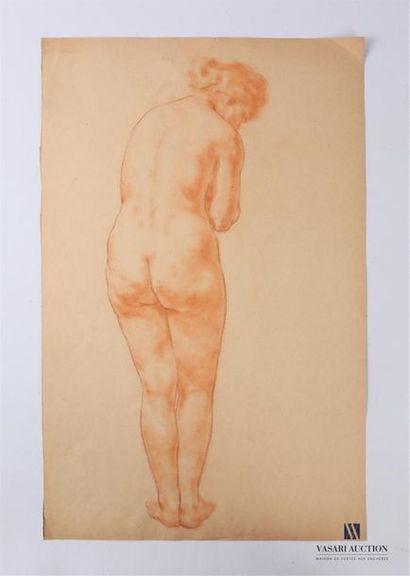 VAN ROY Dolf (1858-1943) Nu féminin debout...