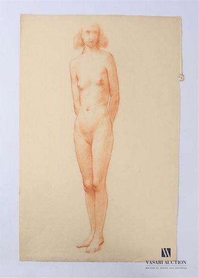 VAN ROY Dolf (1858-1943) Nu féminin, mains...