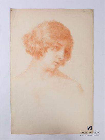 VAN ROY Dolf (1858-1943) Portrait de femme,...