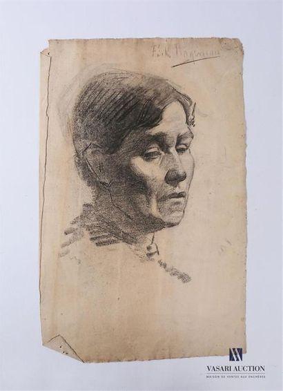 VAN ROY Dolf (1858-1943), attribué à Portrait...