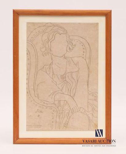 COCTEAU Jean d'après (1889-1963) Portrait...