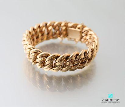 Bracelet en or jaune 750 millièmes à décor...