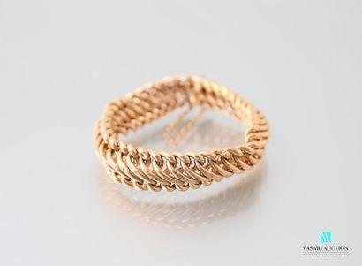 Bracelet en or jaune 750 millièmes à mailles...