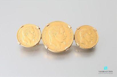 Broche en or jaune 750 millièmes présentant...