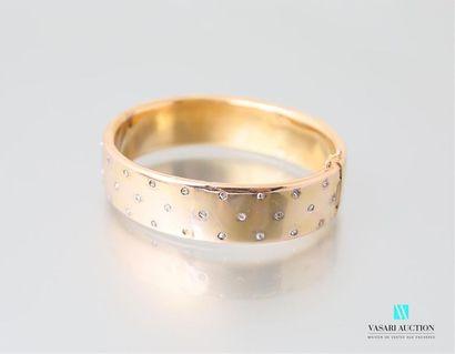 Bracelet rigide en or jaune 750 millièmes,...