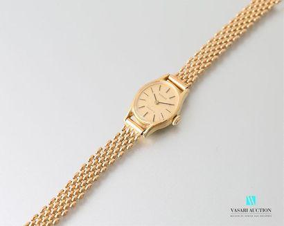 Montre bracelet de marque Tissot en or jaune,...