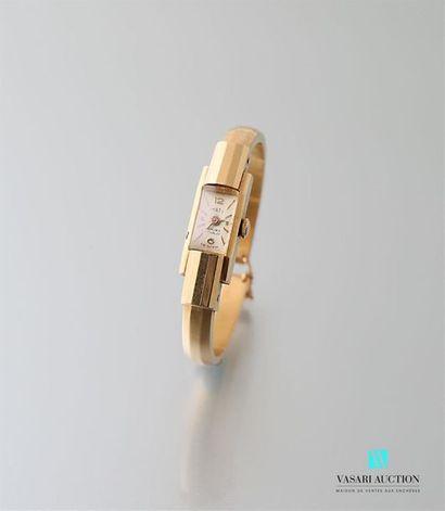 Montre bracelet de dame en or jaune 750 millièmes,...