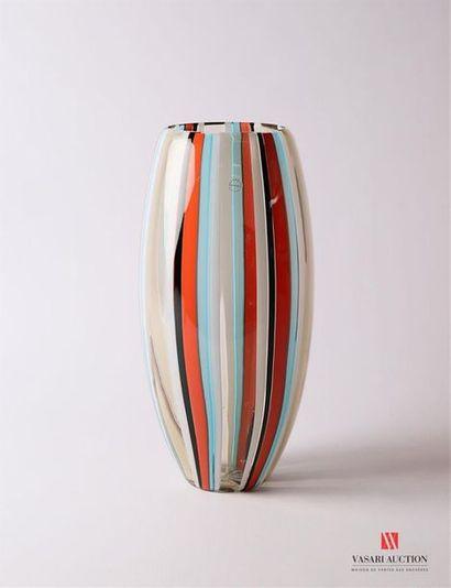 SALVIATI Vase modèle Perles de forme oblongue...