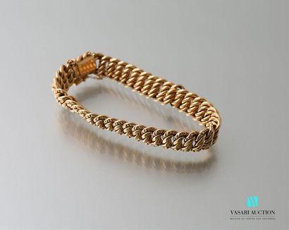 Bracelet maille américaine en or jaune 750...