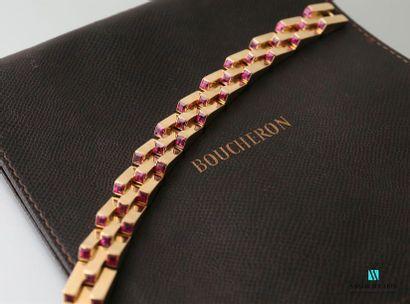 BOUCHERON Bracelet Escalier en or jaune 750...