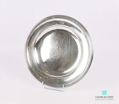 Plat de forme ronde et creux en argent (1819-1838),...
