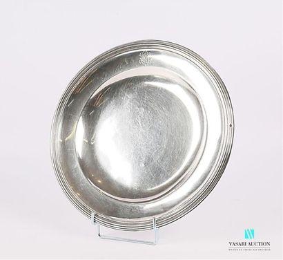 Plat de forme ronde en argent (1819-1838),...