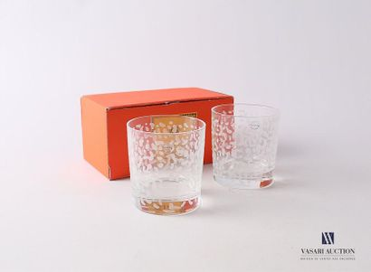 SALVIATI Deux gobelets à eau en verre à décor...