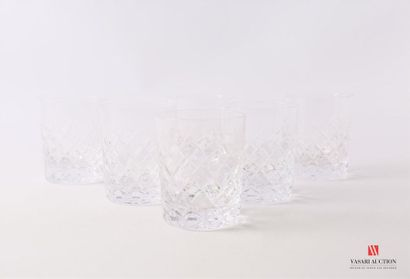 BAYEL - Cristallerie Suite de six verre à...