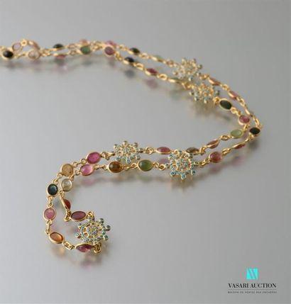 Collier en vermeil constitué de perles de...