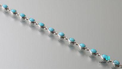 Bracelet de perles de turquoises naturelles,...